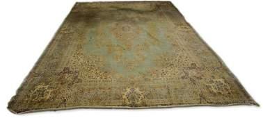 Hand knotted Persian Kerman carpet