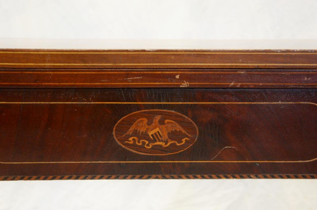 Hepplewhite style inlaid game table - 2