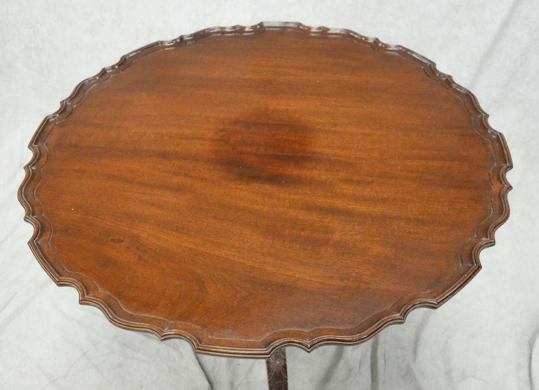 Mahogany Chippendale style tilt and turn tea table - 2