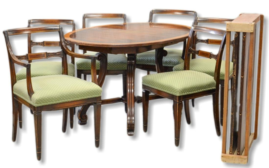 (7) pc Empire style mahogany dining room set