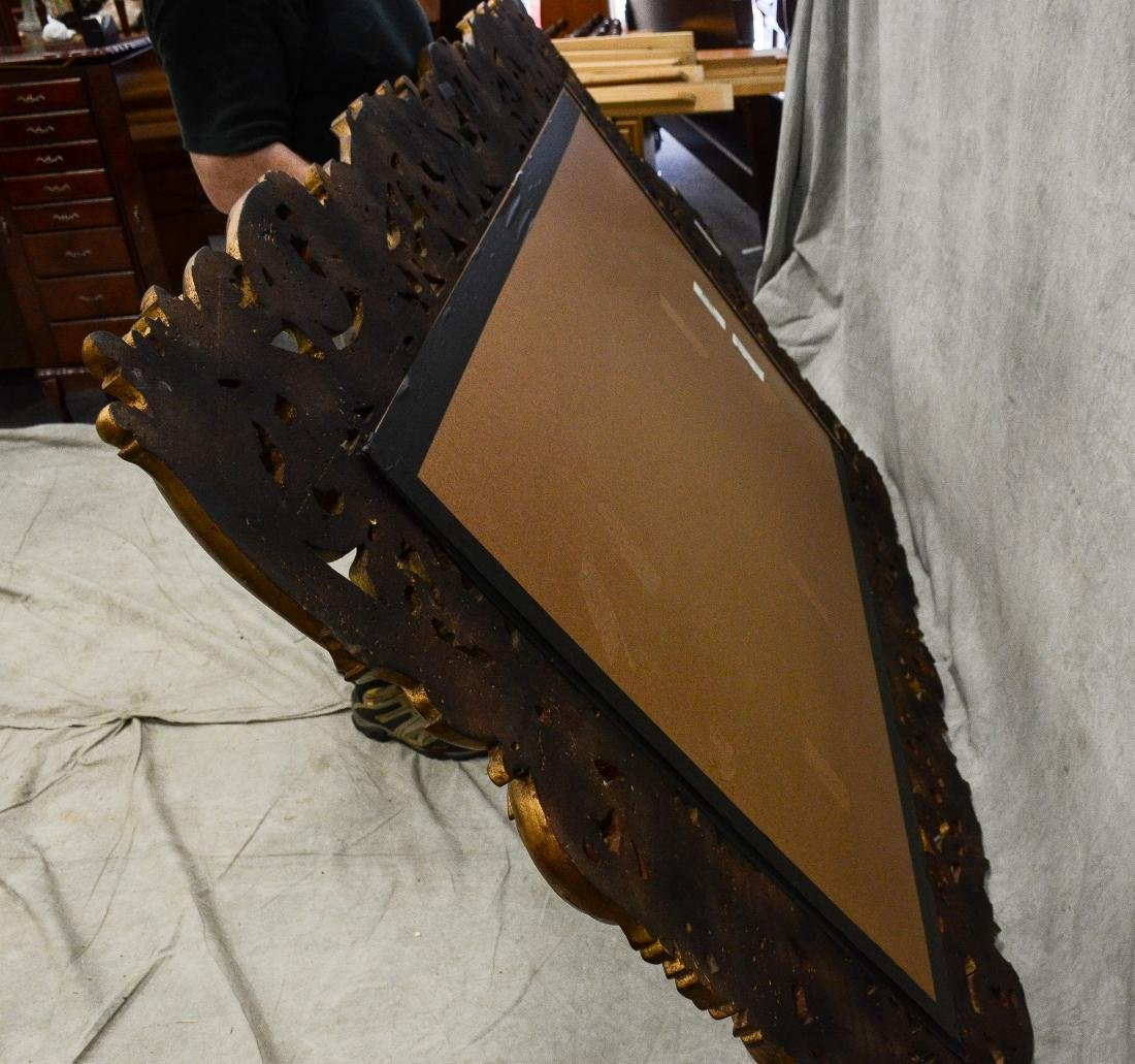 Italian style gilt carved beveled glass mirror - 2