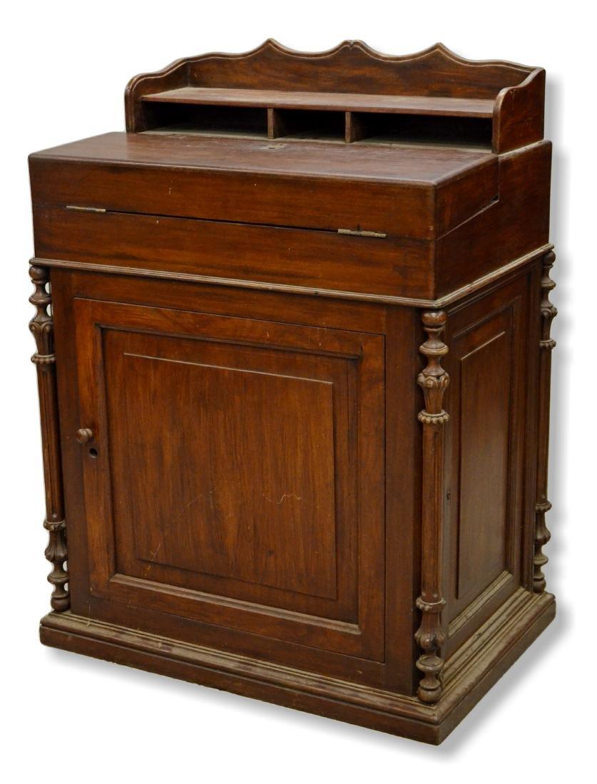 Victorian walnut Davenport desk