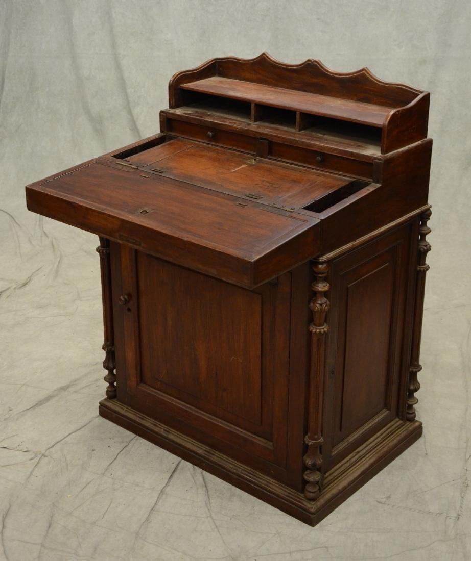 Victorian walnut Davenport desk - 2
