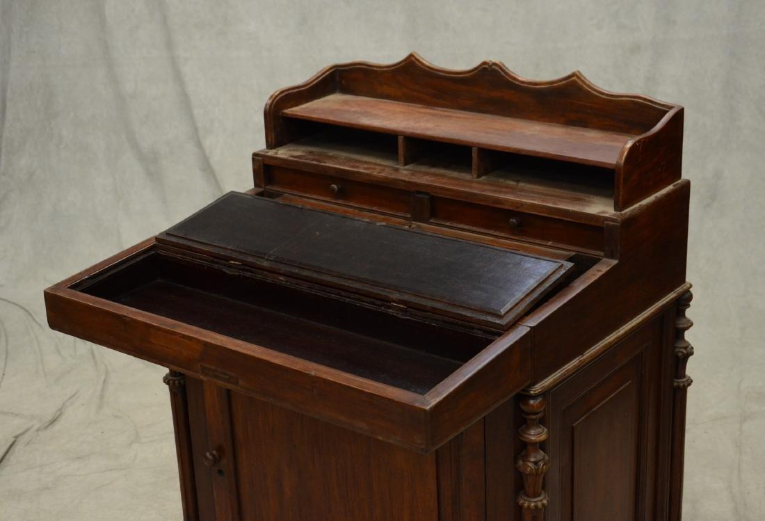 Victorian walnut Davenport desk - 3