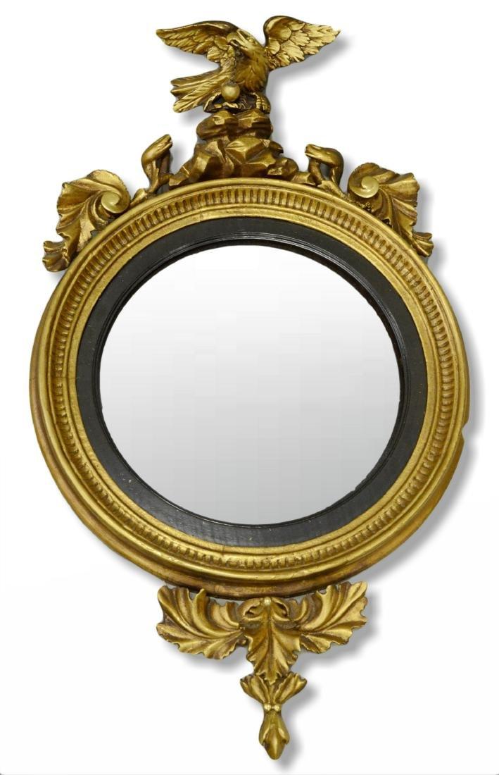 Federal style gilt carved bullseye mirror