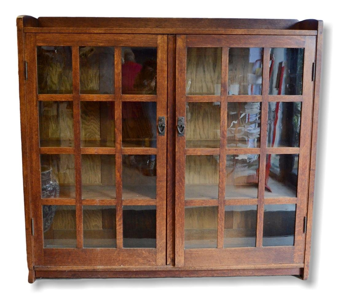 Gustav Stickley Mission oak bookcase