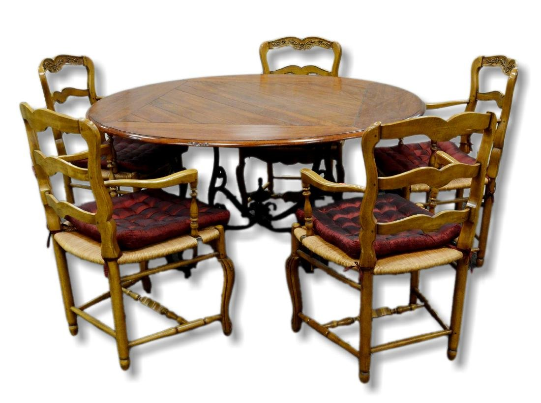 (6) pc Country French style dining room set