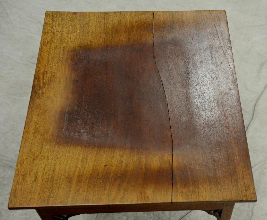 Pr English mahogany side tables - 2