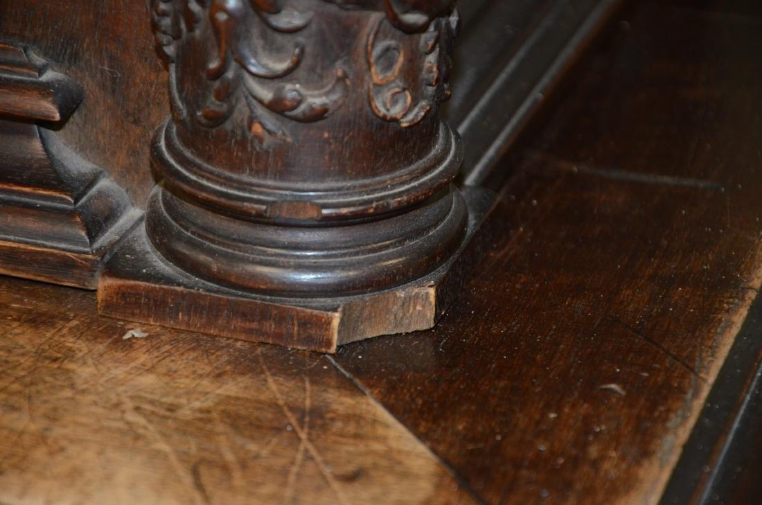 Italian style carved 2 pc walnut cupboard - 5
