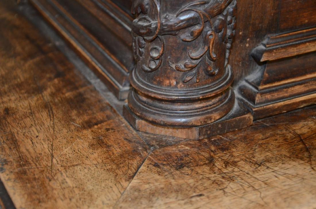 Italian style carved 2 pc walnut cupboard - 6