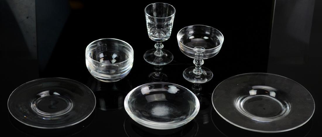 56 pcs Steuben glass tableware