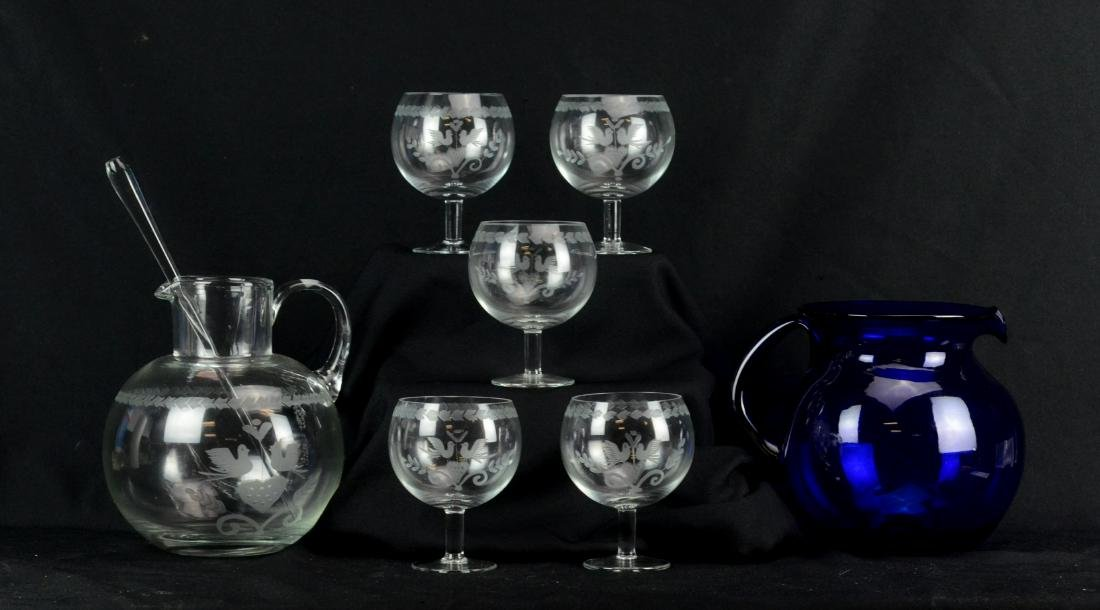 (7) pcs glass