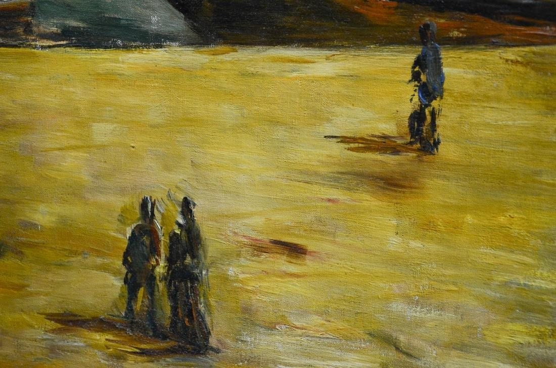Arturo Souto Feijoo, large harbor scene painting - 8