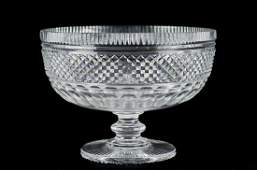 Waterford cut crystal footed compote