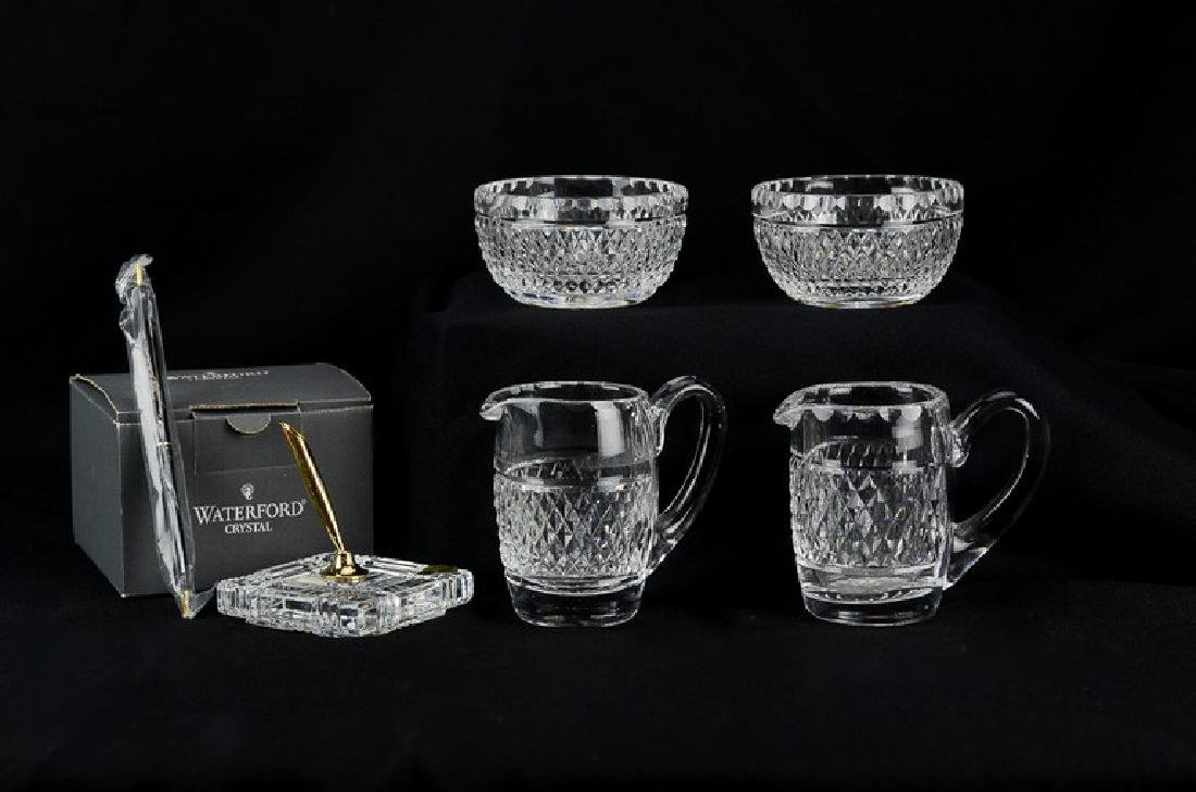 (5) pcs Waterford cut crystal