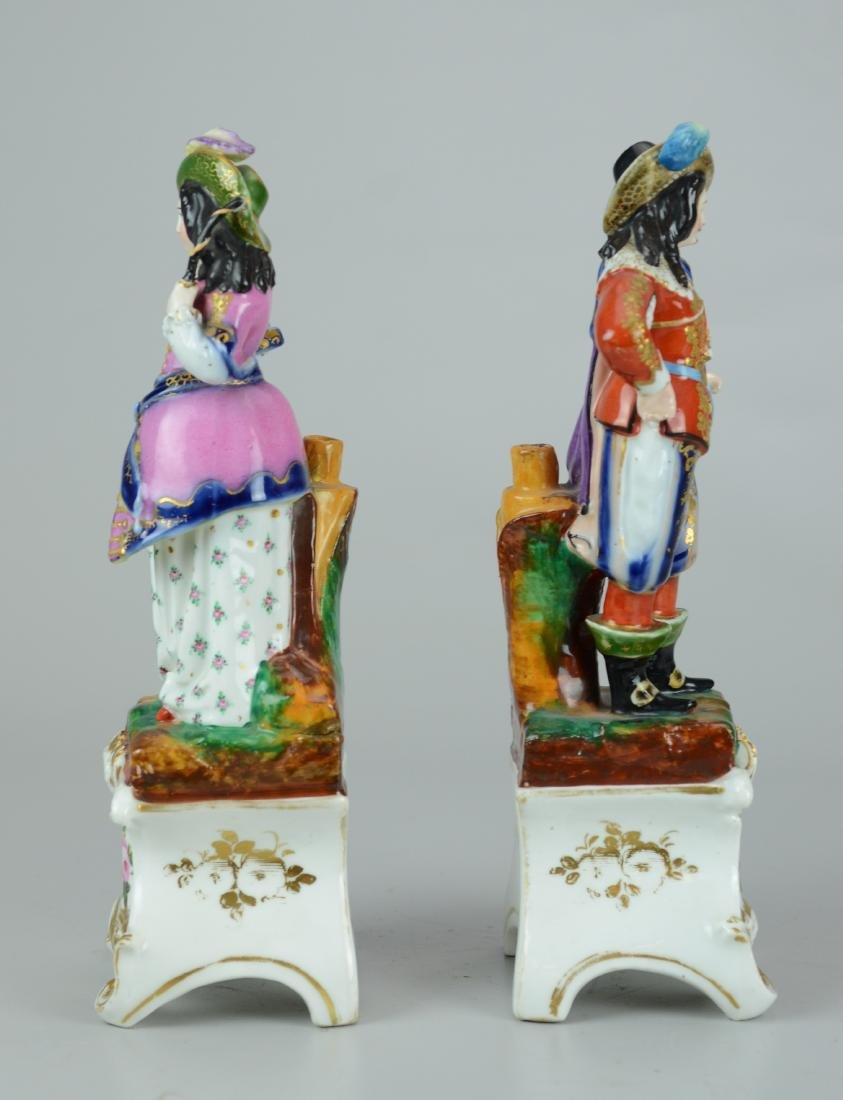 Pr Paris porcelain figurines, man & woman - 2