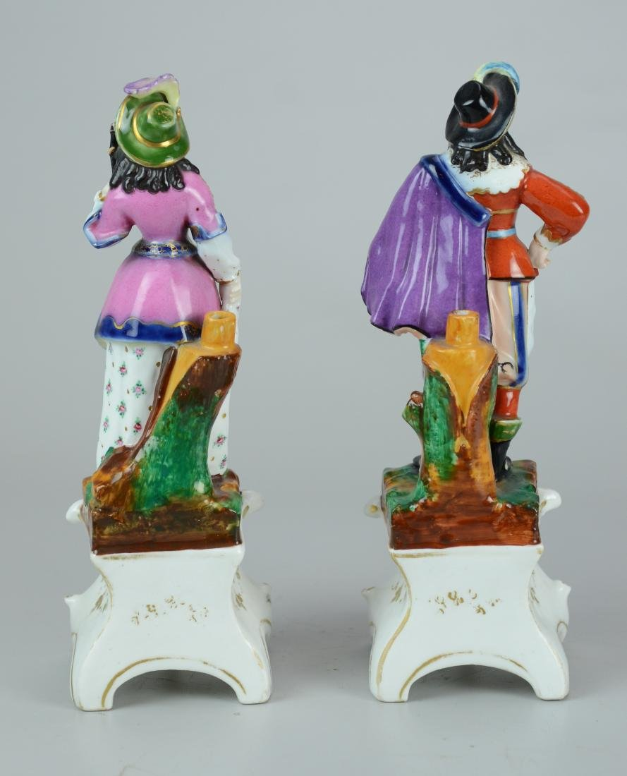 Pr Paris porcelain figurines, man & woman - 3