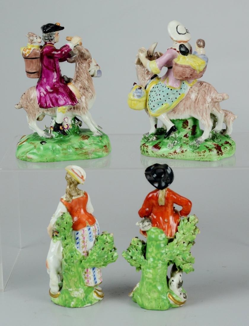 (2) pr Continental porcelain figures - 2