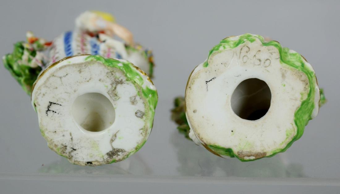 (2) pr Continental porcelain figures - 5