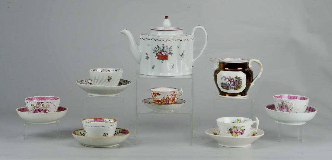 (14) pcs English porcelain