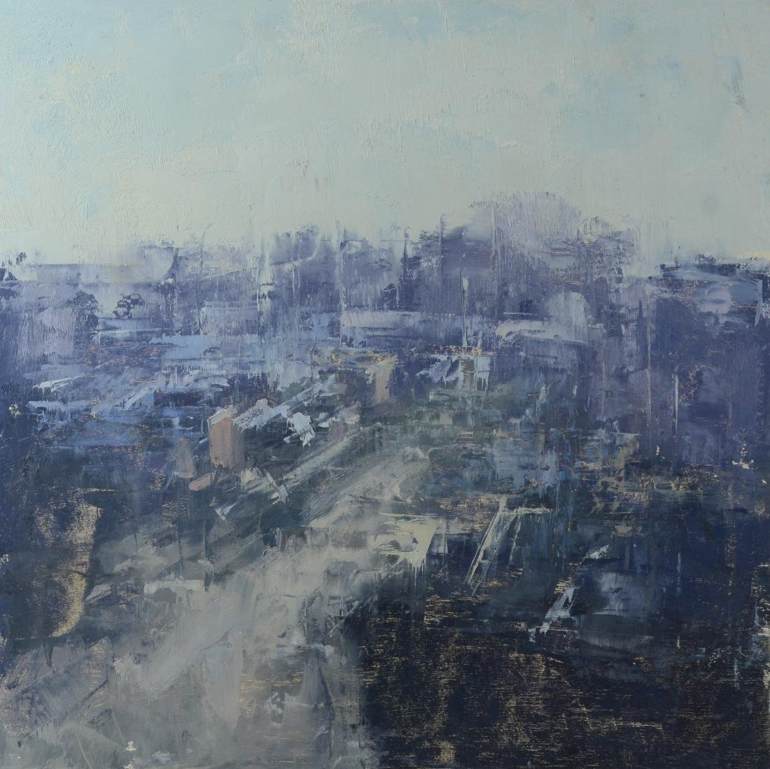 Stuart Shils, abstract cityscape painting