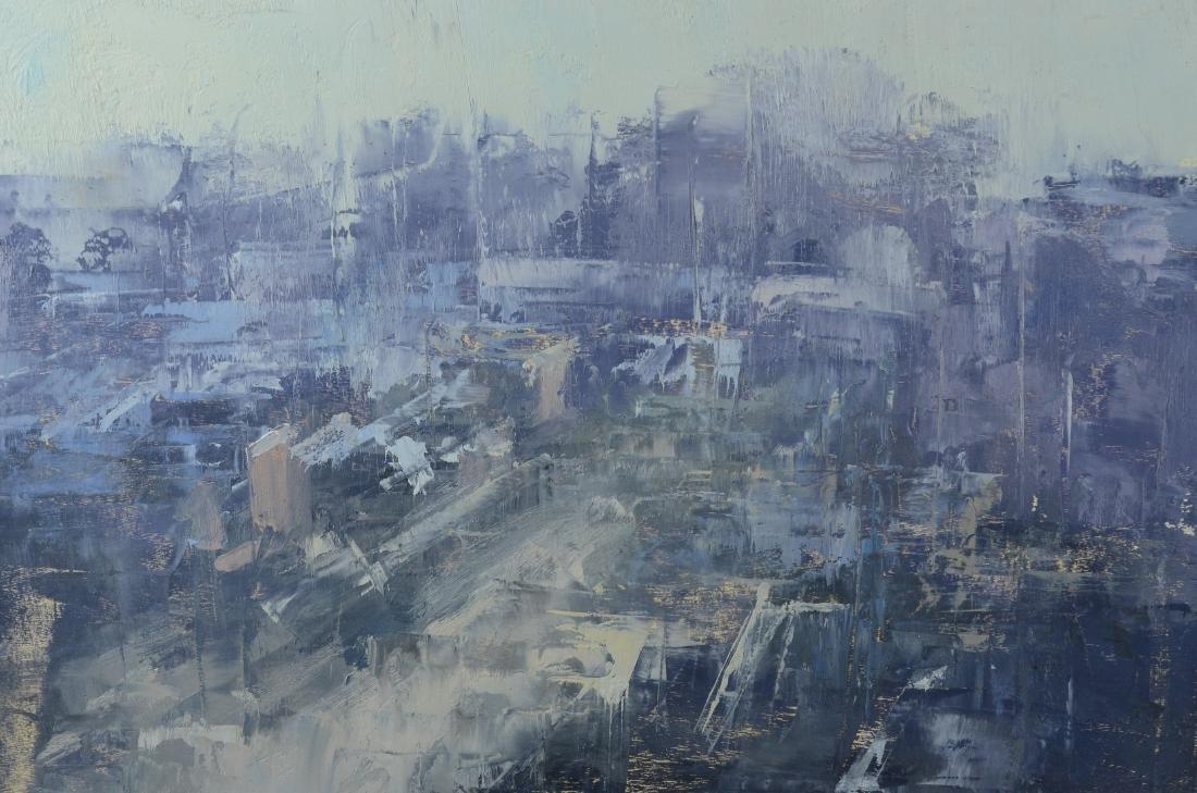 Stuart Shils, abstract cityscape painting - 3
