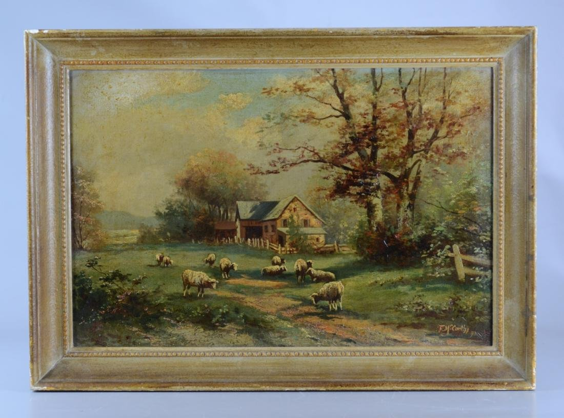 F McCarthy landscape painting with sheep - 2