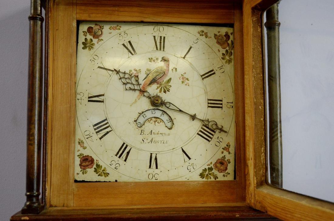 B Andrews, St Austle, tall case clock - 2