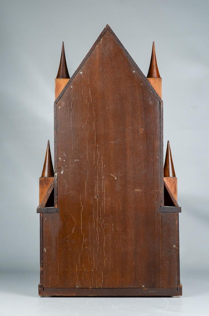 Mahogany double steeple fusee mantel clock - 8