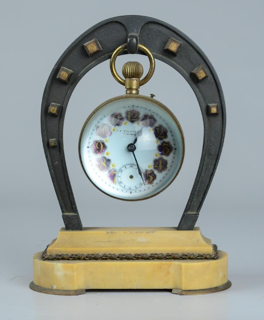 J E Caldwell Philadelphia Ball Clock in Horseshoe
