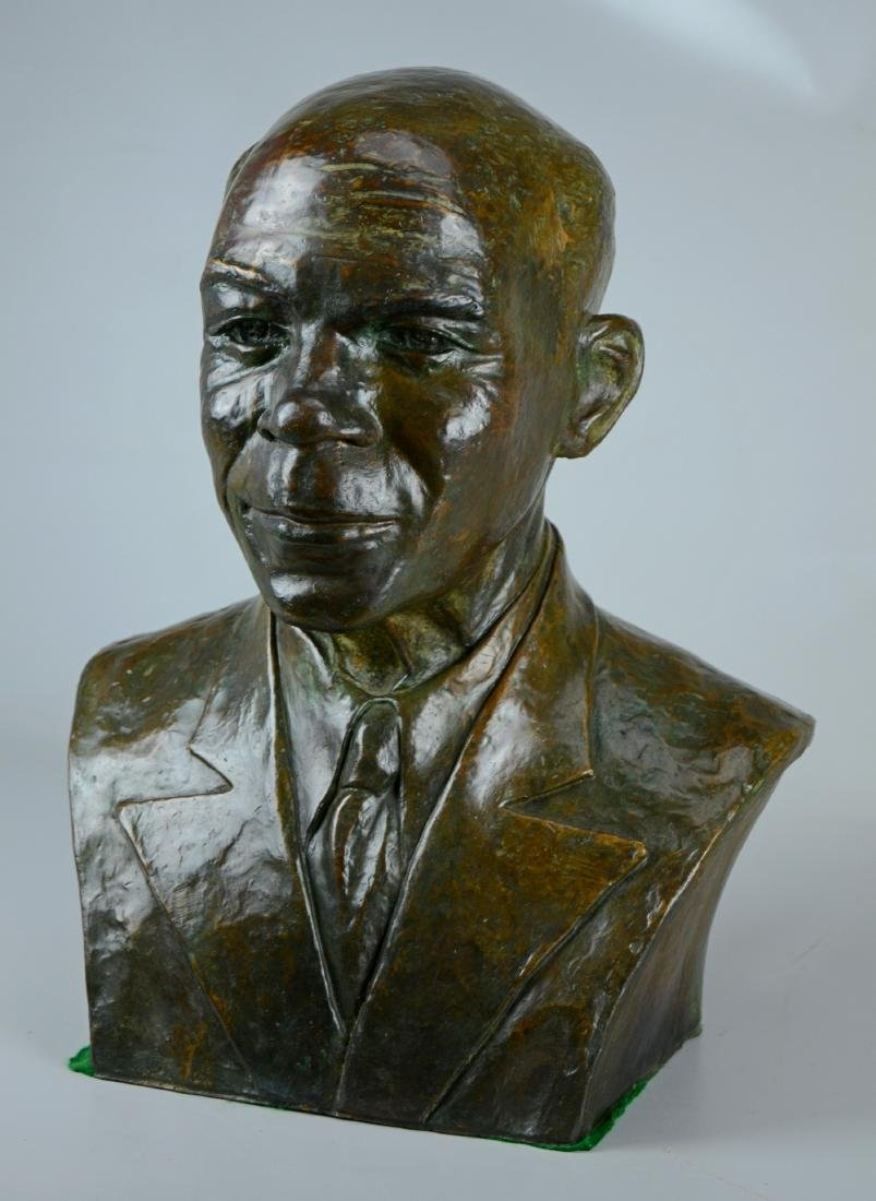 Maurine Ligon, bronze bust of an African American