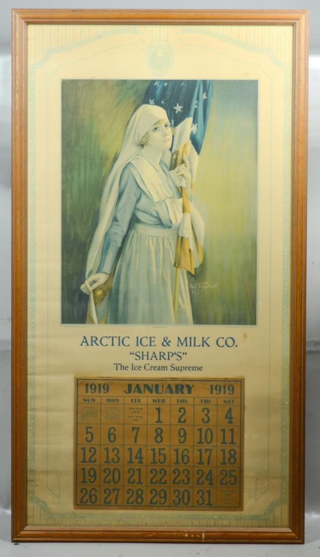 Large 1919 advertising calendar