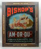 Antique lighted advertising sign