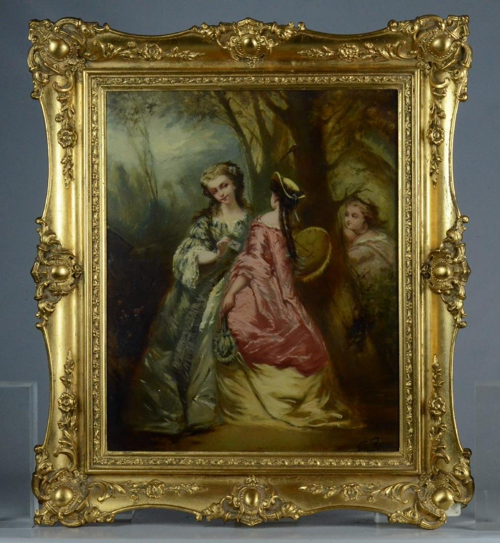 George Remmy painting of three young women - 2