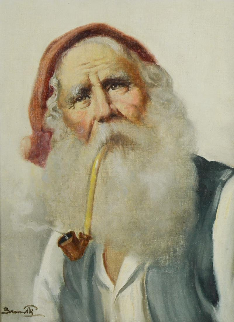 Continental Painting of a bearded man
