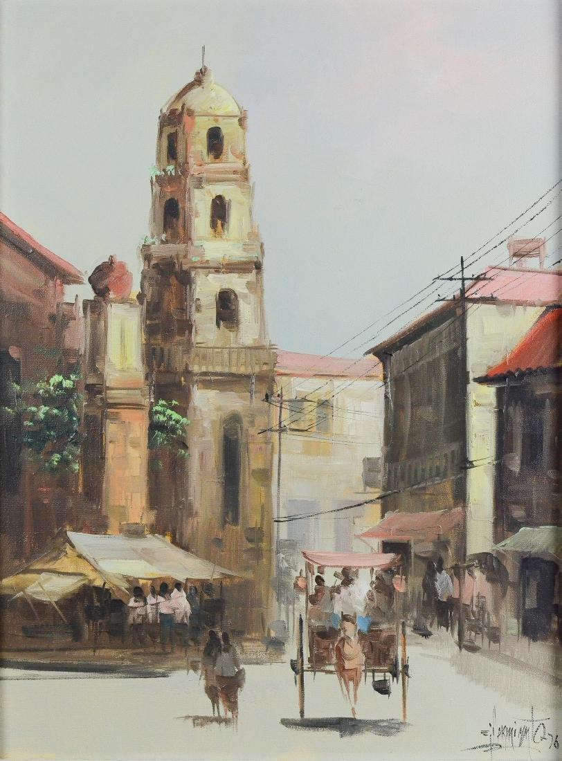 Eddie Sarmiento, City street scene painting