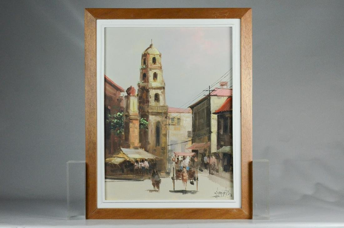 Eddie Sarmiento, City street scene painting - 2