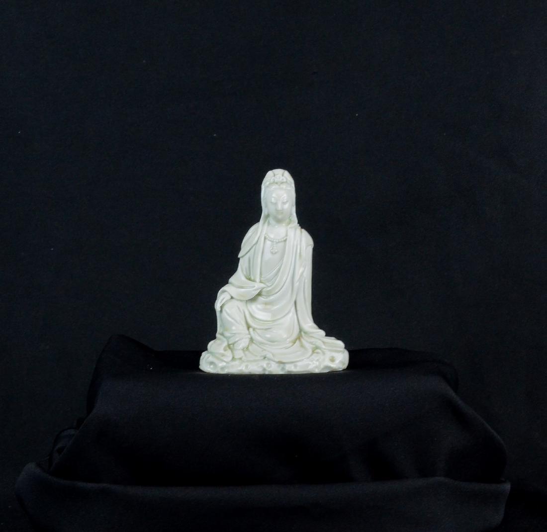 Chinese blanc de chine Guanyin porcelain figurine