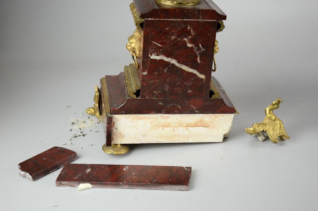 Pr 19th C French gilt brass urn form candelabra - 2