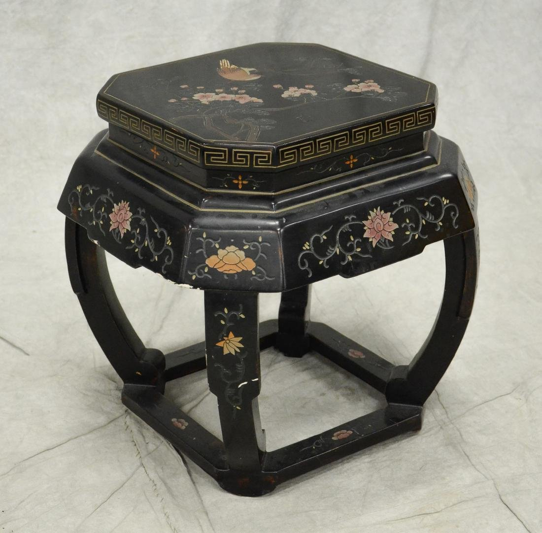 Chinese Coromandel lacquer taboret