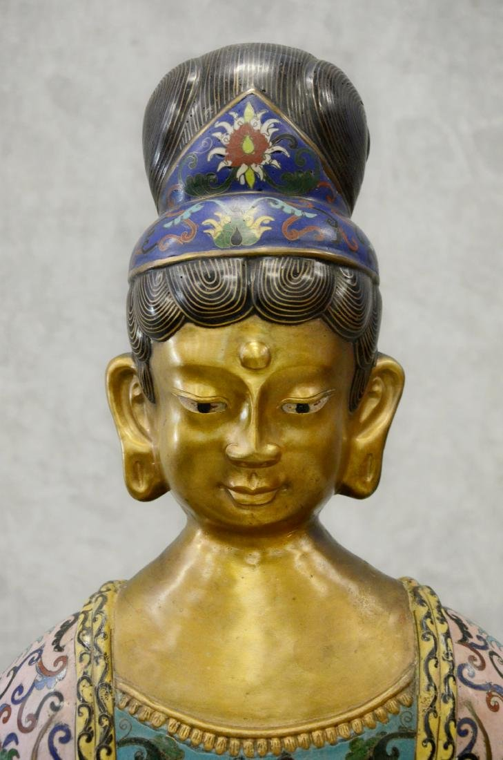 Chinese cloisonne figure of goddess - 2