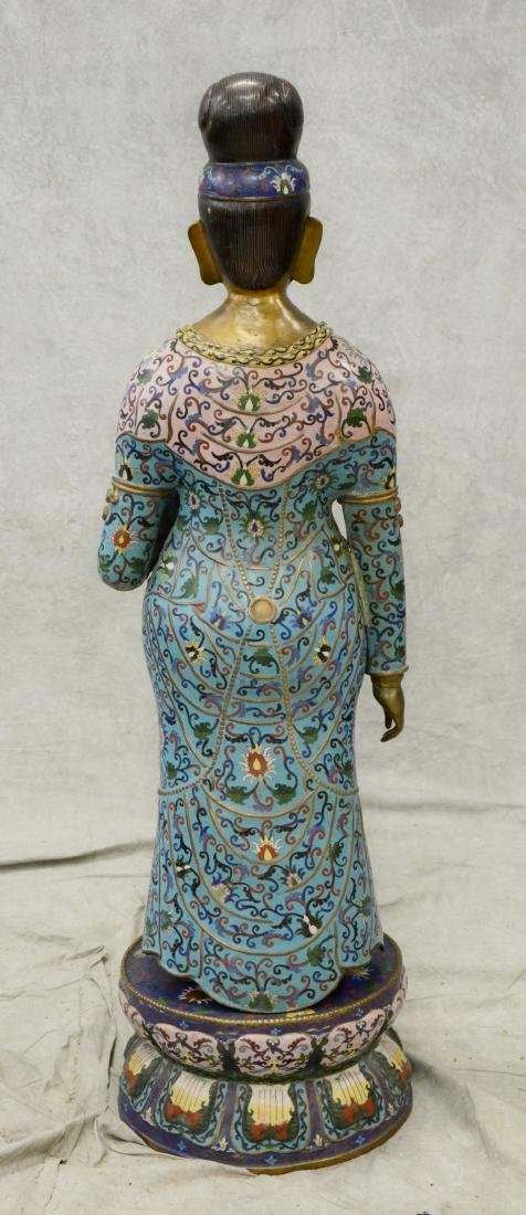 Chinese cloisonne figure of goddess - 3