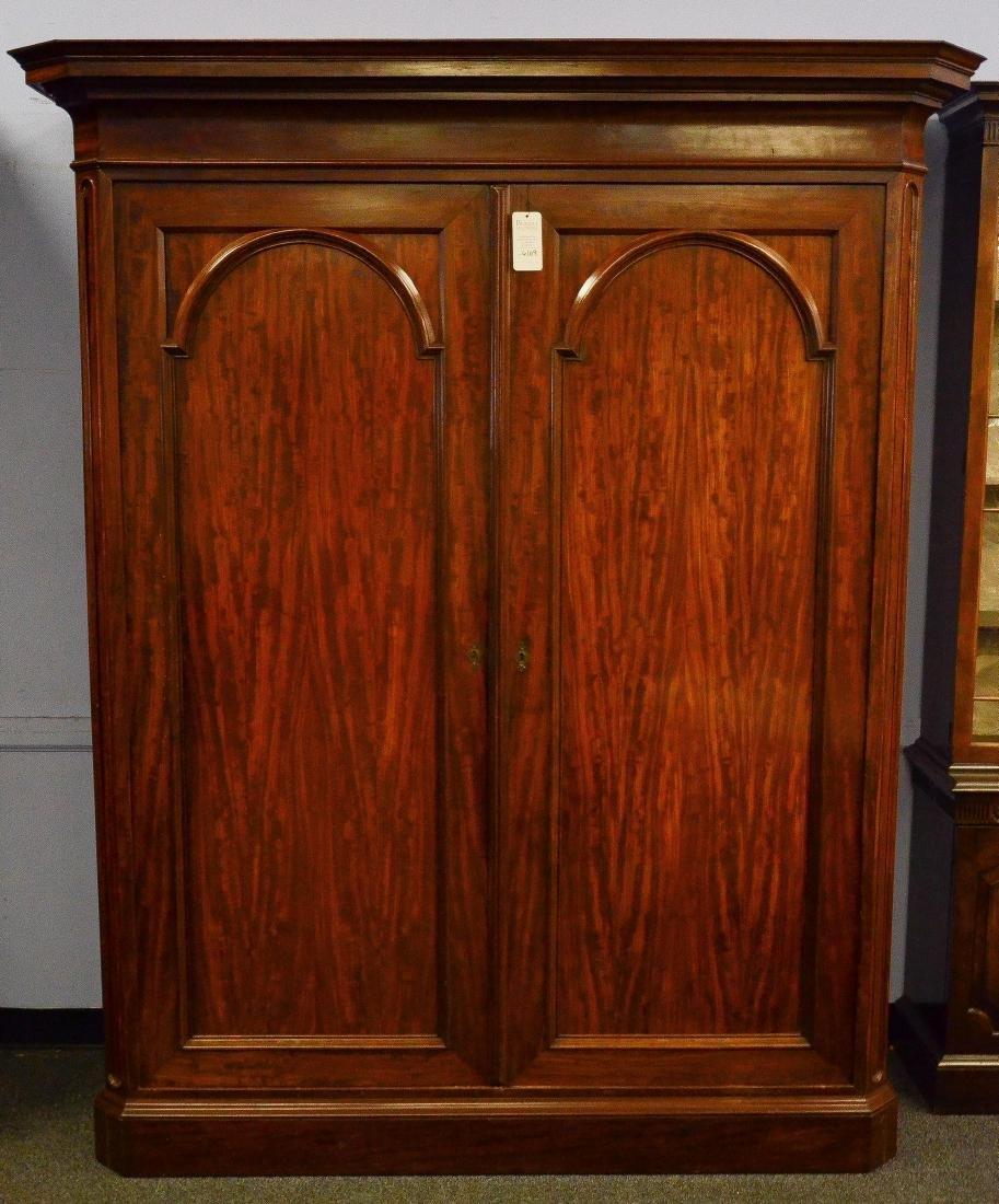Mahogany paneled 2 door wardrobe