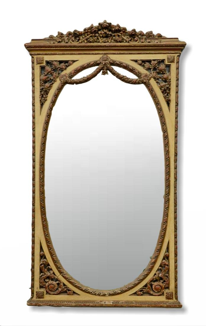French style gilt carved mirror