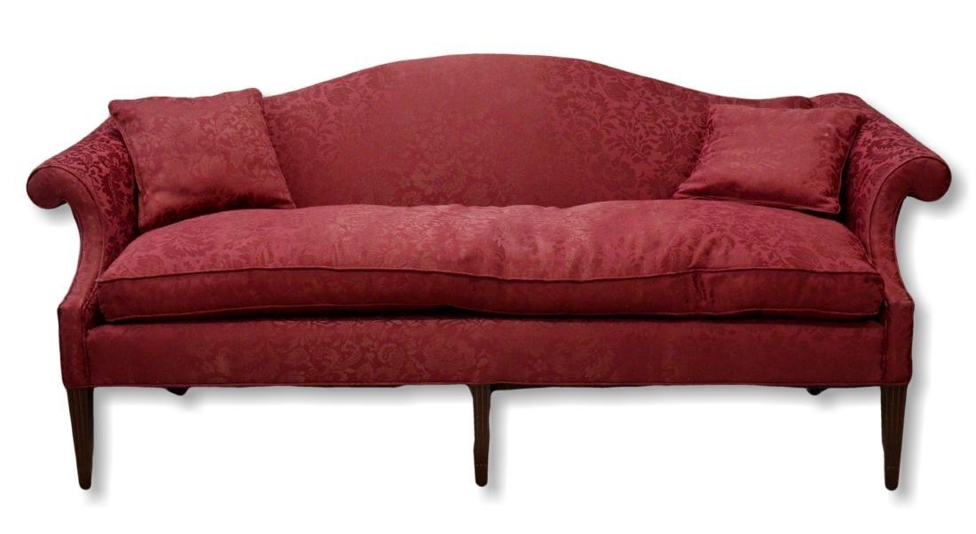 Chippendale style 6 legged humback sofa