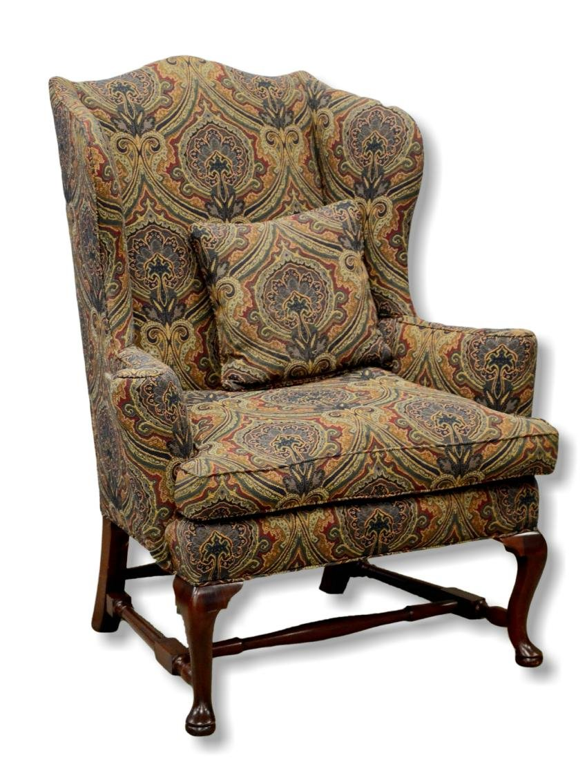 C W Kittinger Queen Ann style wing chair