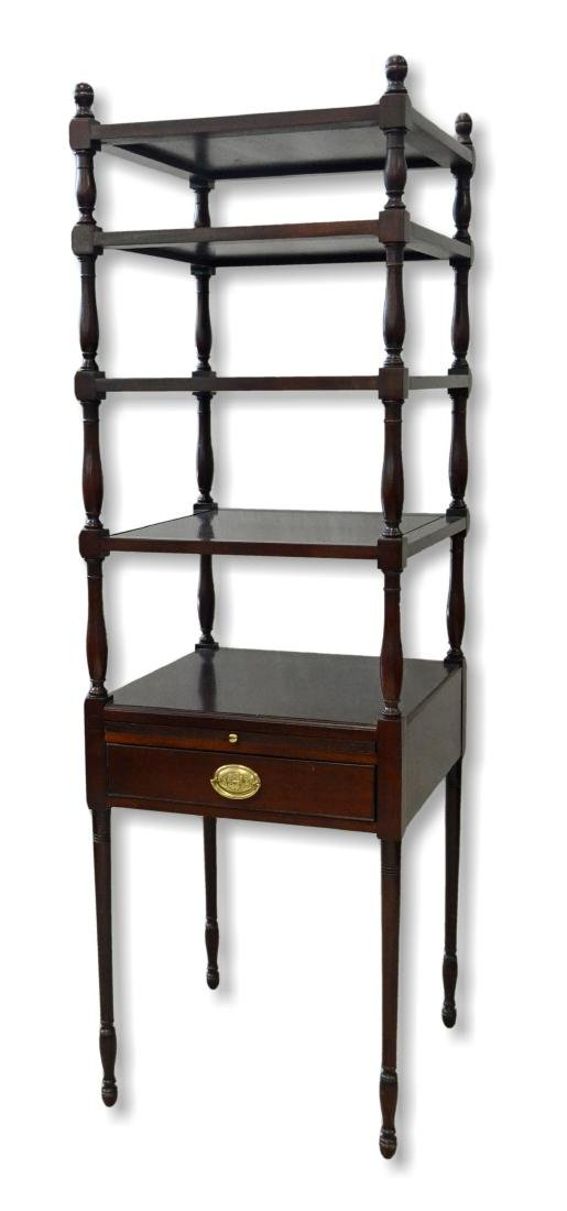 Smithsonian Institution mahogany dumbwaiter