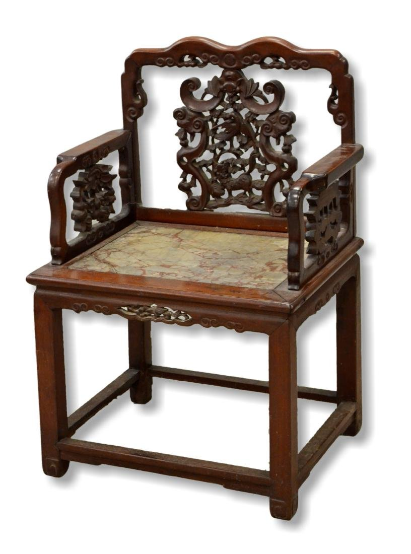 Chinese carved armchair