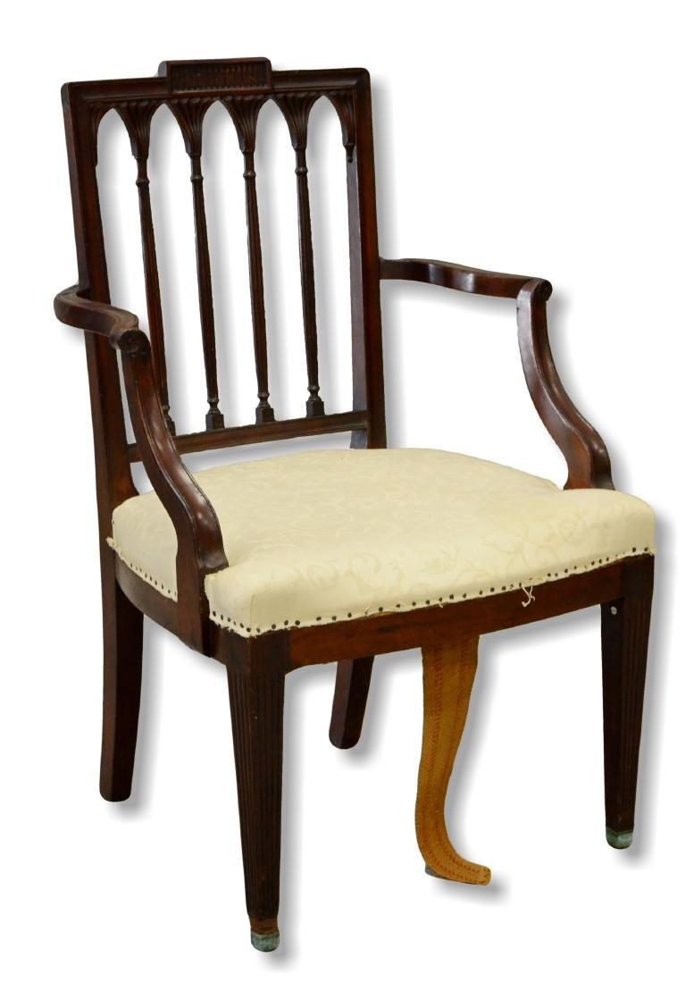 19th c New York Federal style mahogany armchair