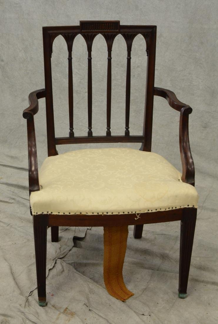 19th c New York Federal style mahogany armchair - 2